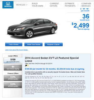 Lease To Purchase Car Deals