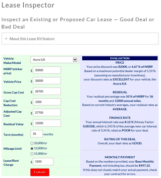 Leaseguide lease calculator